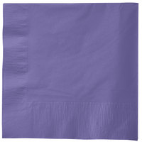 Creative Converting 58115B Purple 3-Ply 1/4 Fold Luncheon Napkin - 50/Pack