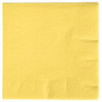 Creative Converting 57102B Mimosa Yellow 3-Ply Beverage Napkin   - 50/Pack