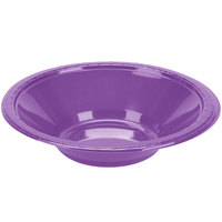 Creative Converting 318920 12 oz. Amethyst Purple Plastic Bowl - 20/Pack