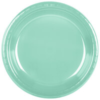 Creative Converting 318880 10 inch Fresh Mint Green Plastic Plate - 20/Pack