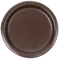 Creative Converting 793038B 7 inch Chocolate Brown Paper Plate - 24/Pack