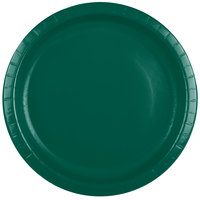 Creative Converting 503124B 10 inch Hunter Green Paper Plate - 24/Pack
