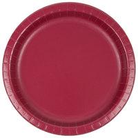 Creative Converting 503122B 10 inch Burgundy Paper Plate - 24/Pack