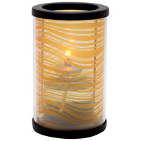 Sterno Products 80464 Muse 5 inch Wave Amber Lamp