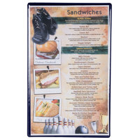 Menu Solutions H500D DARK BL Hamilton 8 1/2 inch x 14 inch Single Panel Two View Blue Menu Board