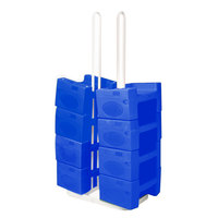 Koala Kare KB120SM-04 W/STRAP Small Booster Buddy Stand with 10 Blue Plastic Booster Seats and Straps