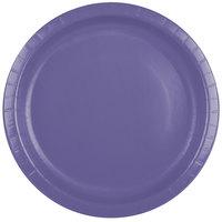 Creative Converting 50115B 10 inch Purple Paper Plate - 24/Pack