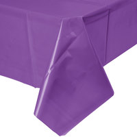 Creative Converting 318940 54 inch x 108 inch Amethyst Purple Plastic Table Cover