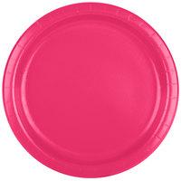 Creative Converting 47177B 9 inch Hot Magenta Pink Paper Plate - 24/Pack