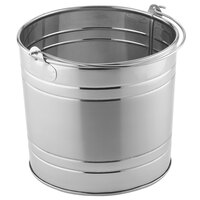 American Metalcraft STUB87 8 inch x 7 1/4 inch Round Stainless Steel Metal Pail
