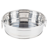 American Metalcraft STUB10 10 1/4 inch x 3 1/8 inch Round Stainless Steel Metal Tub
