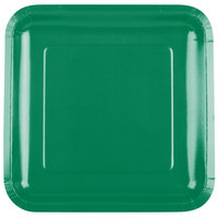 Creative Converting 463261 9 inch Emerald Green Square Paper Plate - 18/Pack