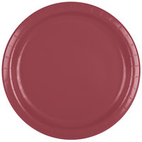 Creative Converting 473122B 9 inch Burgundy Paper Plate - 24/Pack