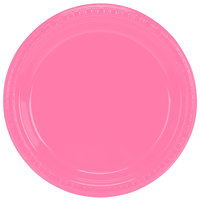 Creative Converting 28304221 9 inch Candy Pink Plastic Plate - 240/Case