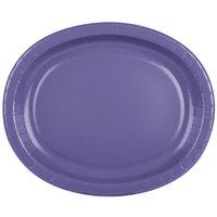 Creative Converting 433268 12 inch x 10 inch Purple Oval Paper Platter - 96/Case