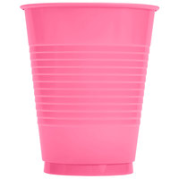 Creative Converting 28304281 16 oz. Candy Pink Plastic Cup - 20/Pack