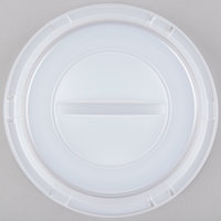 Dart Solo 9CRTF Translucent Dome Lid for Foam Plates - 125/Pack