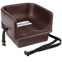 Cambro 100BCS131 Brown Single Seat Booster Chair with Strap