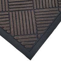 Cactus Mat 1509M-B35 Enviro-Scrape 3' x 5' Chestnut Brown Carpet Mat - 3/8 inch Thick