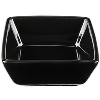 World Tableware SL-3-B Slate 2.75 oz. Square Black Porcelain Dipping Bowl - 36/Case