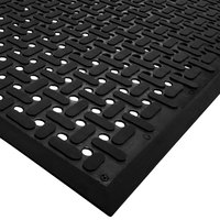 Cactus Mat 2540-C15 VIP Guardian 3' x 15' Black Grease-Proof Anti-Fatigue Floor Mat - 1/4 inch Thick
