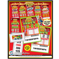 Firemen's Pack 1 Window Pull Tab Tickets - 480 Tickets per Deal - $363 Total Payout