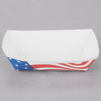 Southern Champion 531 #40 6 oz. USA Flag Paper Food Tray - 1000 / Case