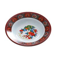 Peacock 12 oz. Round Melamine Soup Plate - 12 / Pack