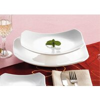 CAC RCN-H12 Bright White 10 1/2 inch x 7 3/4 inch China Rectangular Tasting Platter 24/Case