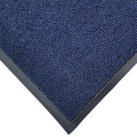 Cactus Mat 1471M-U35 3' x 5' Blue Olefin Carpet Entrance Floor Mat - 3/8 inch Thick