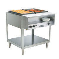 Vollrath 38116 ServePan Electric Two Pan Hot Food Table 208/240V - Sealed Well