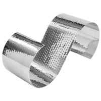 American Metalcraft HSR13 13 1/4 inch x 5 inch x 5 1/2 inch Hammered Stainless Steel S-Shaped Riser