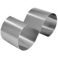 American Metalcraft SSR16 16 1/2 inch x 6 inch x 7 inch Satin Stainless Steel S-Shaped Riser