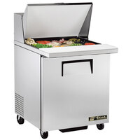True TSSU-27-12M-B-ADA LH 27 inch Mega Top Sandwich / Salad Prep Refrigerator with Left-Hinged Door