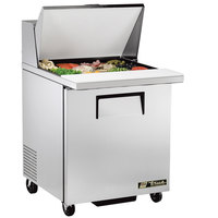 True TSSU-27-12M-C LH 27 inch Mega Top Sandwich / Salad Prep Refrigerator with Left-Hinged Door
