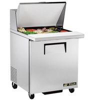 True TSSU-27-12M-C-HC 27 inch Mega Top Sandwich / Salad Prep Refrigerator with Left-Hinged Door
