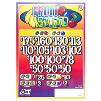 Fruit Salad 3 Window Pull Tab Tickets - 2436 Tickets per Deal - Total Payout: $1935