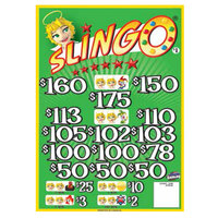 Slingo 3 Window Pull Tab Tickets - 2436 Tickets per Deal - Total Payout: $1935