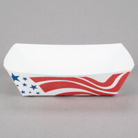 Southern Champion 535 #250 2.5 lb. USA Flag Paper Food Tray - 250 / Pack