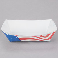 Southern Champion 530 #25 1/4 lb. USA Flag Paper Food Tray - 250/Pack