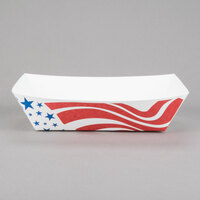 #50 1/2 lb. USA Flag Paper Food Tray - 250 / Pack