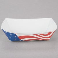 Southern Champion 532 #50 1/2 lb. USA Flag Paper Food Tray - 250/Pack
