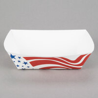 #300 3 lb. USA Flag Paper Food Tray - 250 / Pack