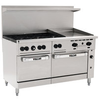 Vulcan 60SS-6B24GN Endurance Series Natural Gas 60 inch Range with 6 Burners, 24 inch Griddle, and 2 Ovens - 278,000 BTU