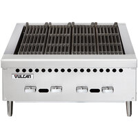 Vulcan VCRB25-1 Natural Gas 25 inch Low Profile Heavy-Duty Radiant Charbroiler - 58,000 BTU