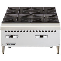 Vulcan VCRH36-1 Natural Gas 36 inch 6 Burner Countertop Range / Hot Plate - 150,000 BTU