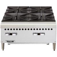 Vulcan VCRH36-1 Natural Gas 36 inch 6 Burner Countertop Range / Hot Plate - 150,000 BTU