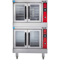 Vulcan VC44GD-LP Liquid Propane Double Deck Full Size Gas Convection Oven with Solid State Controls - 100,000 BTU