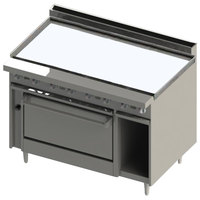 Blodgett BR-48G-36C 48 inch Manual Natural Gas Range with Griddle Top and Convection Oven Base - 126,000 BTU