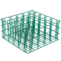 25 Compartment Catering Glassware Basket - 3 1/2 inch X 3 1/2 inch X 8 inch Compartments
